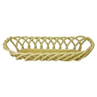 Italian Ceramic Lattice Loaf Basket
