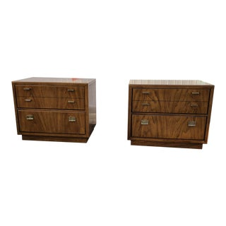 1970's Vintage Drexel Consensus Nightstands-a Pair For Sale