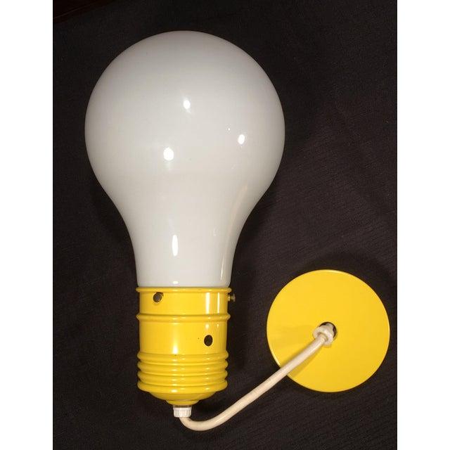 Yellow Mid Century Modern Oversized Lightbulb Pendant Ceiling Light For Sale - Image 8 of 10