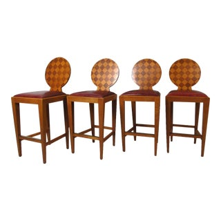 Vintage Modern Paris Hall Bar Chairs by Angelo Donghia