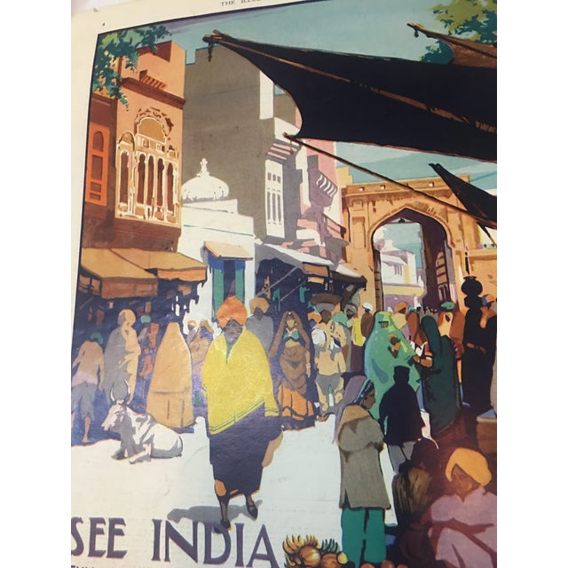 Blue 1935 'See India' Lahore Scene Ad For Sale - Image 8 of 11