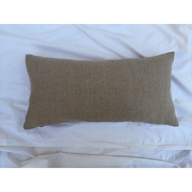 Chinoiserie Pink Silk Crane Boudoir Pillow - Image 7 of 7