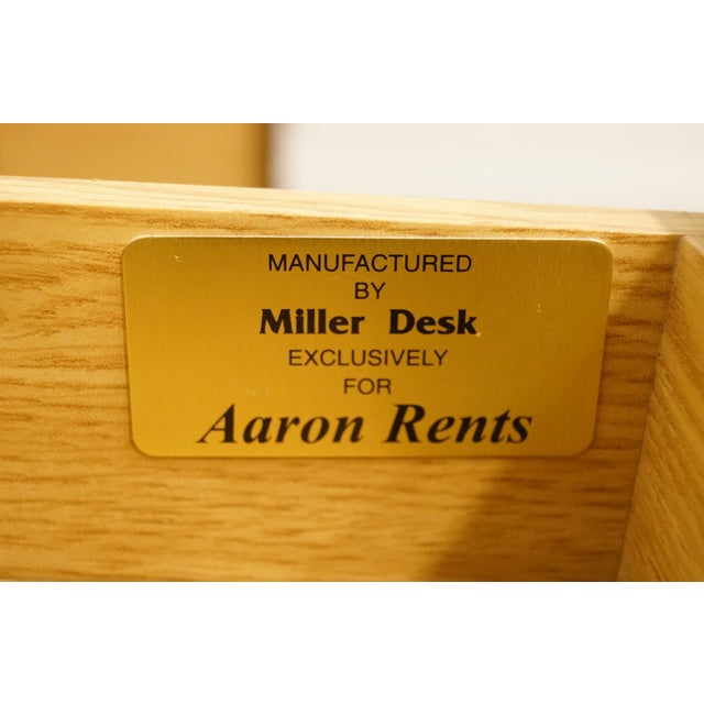 20th Century Traditional Miller Desk Solid Cherry Executive Office Credenza For Sale - Image 9 of 13