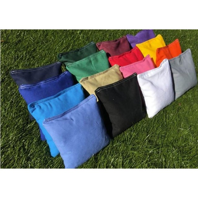 American Chairish x The Muddy Dog Classic Stripe Cornhole Board, Navy/Sky - 2 Boards + 8 Toss Bags For Sale - Image 3 of 3