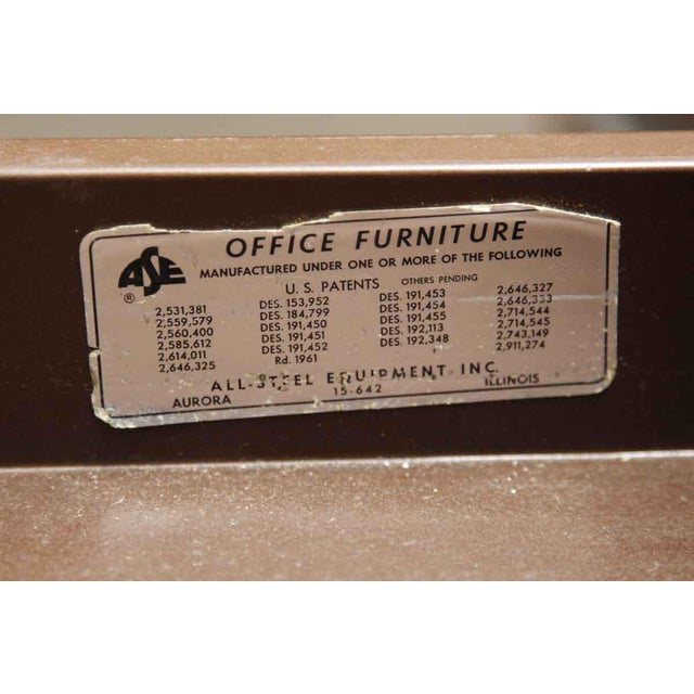 1960s 1960s Industrial Metal All Steel Office Executive Desk For Sale - Image 5 of 6