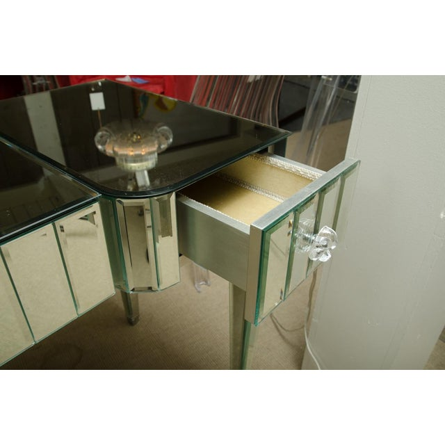 Spectacular Mirrored 3-Drawer Vanity/Desk For Sale In New York - Image 6 of 9
