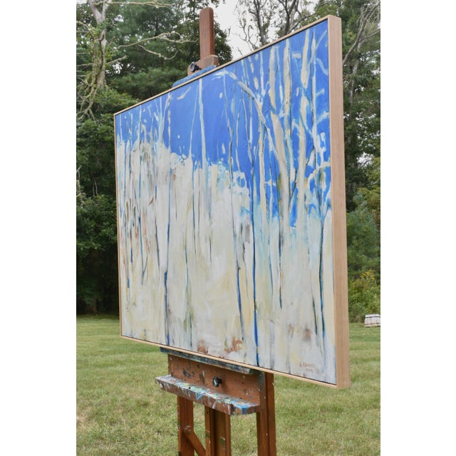 """Canvas Abstract Painting, """"Have You Ever Seen a Sky So Blue"""", by Stephen Remick For Sale - Image 7 of 10"""