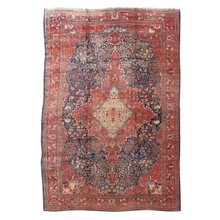 19th Century Fereghan Sarouk Carpet For Sale