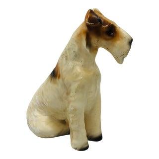 Mid Century Schnauzer Dog Figurine For Sale