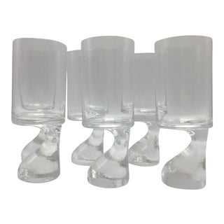 Joe Colombo Smoke Series Flute Glasses - Set of 6 For Sale
