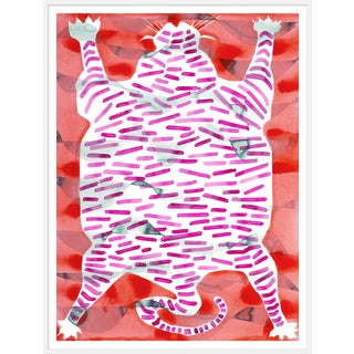 "XL ""Tiger Rug"" Print by Kate Roebuck, 48"" X 63"" For Sale"