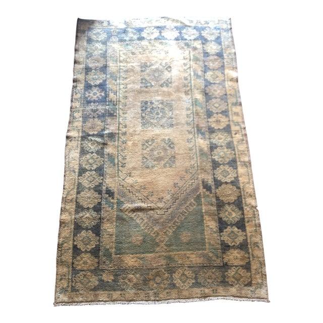 Antique Turkish Wool Oushak Prayer Rug For Sale