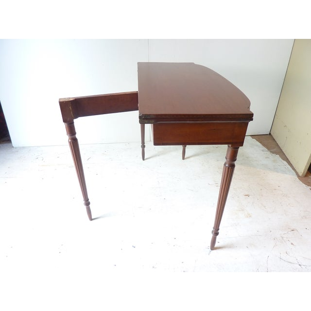19th Century Early American Mahogany Demi-Lune Card Table For Sale - Image 4 of 8