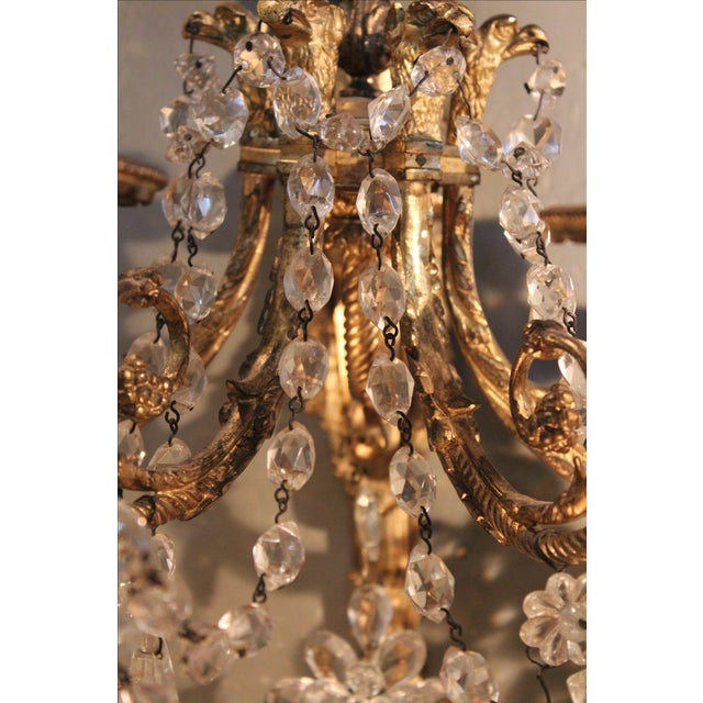 Antique French Bronze & Crystal Sconces - a Pair - Image 10 of 10