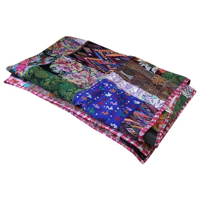 Guatemalan Textile Throw Blanket For Sale