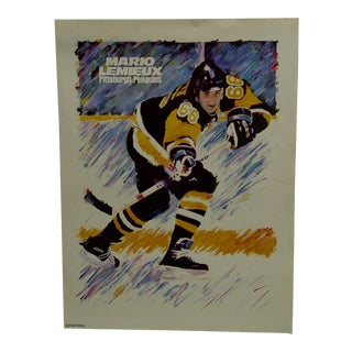 """Duostarr Mario Lemieux """"Pittsburgh Penguins"""" NHL Hockey Poster For Sale"""