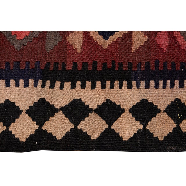 "Mid-20th Century Vintage Kilim Runner Rug 5' 1"" X 12' 2''. For Sale - Image 9 of 13"
