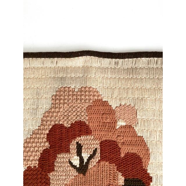 Vintage Danish Woven Textile Wall Hanging For Sale In San Francisco - Image 6 of 7