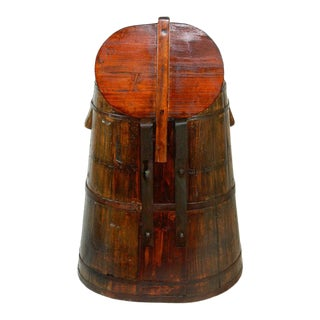 Southeast Asian Teak Rice Barrel For Sale