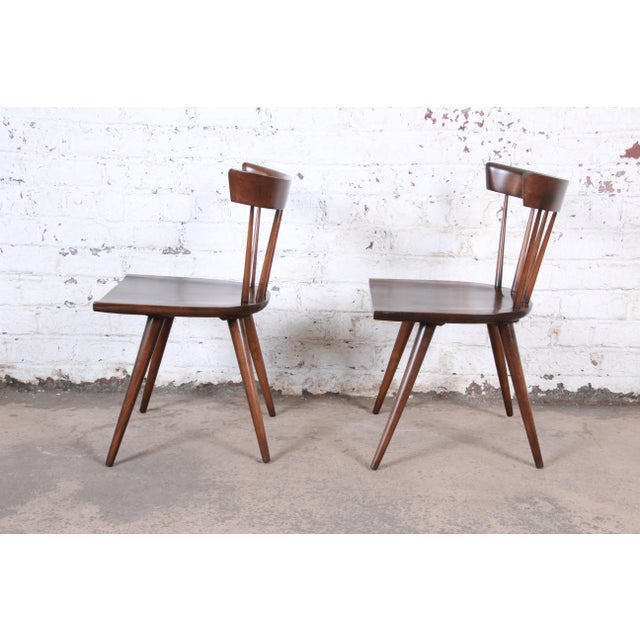 Planner Group Paul McCobb Newly Refinished Planner Group Dining Chairs, Pair For Sale - Image 4 of 13