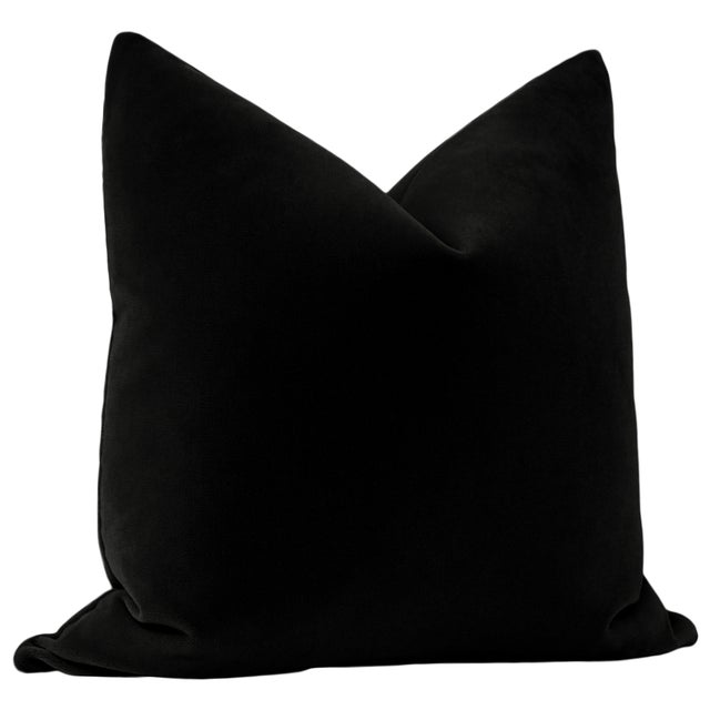 "Contemporary 22"" Caviar Mohair Pillows - a Pair For Sale - Image 3 of 5"