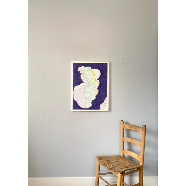 Abstract Pastel Painting of cloud-like shape