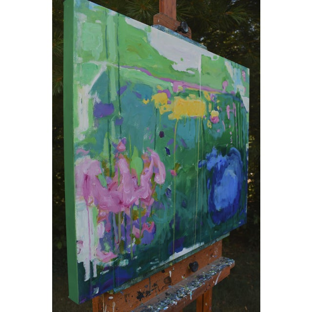 "Stephen Remick Abstract Painting, Garden Party Painting - 24"" X 30"" - Image 6 of 9"