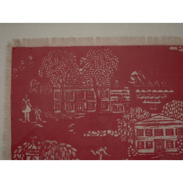 """Red Folly Cove """"Head of the Cove"""" Hand Block Print For Sale - Image 8 of 9"""