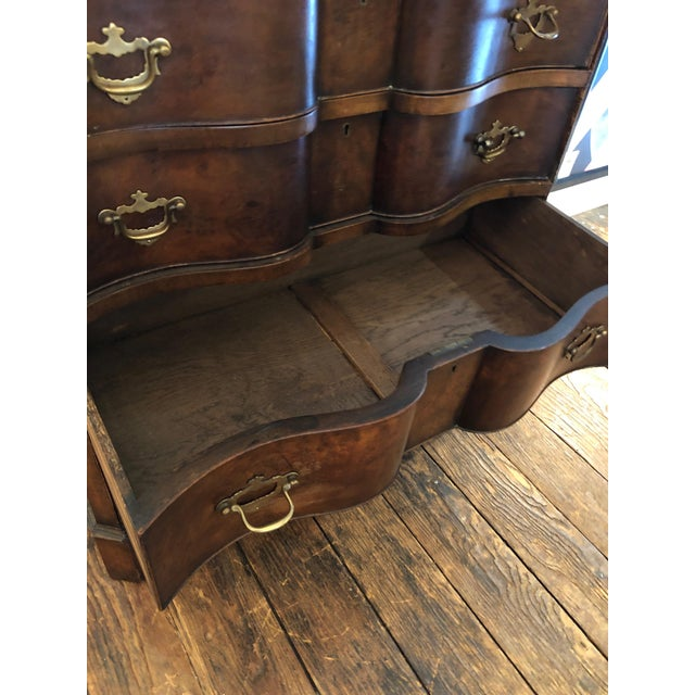Antique Serpentine Mahogany French Chest of Drawers For Sale - Image 9 of 13