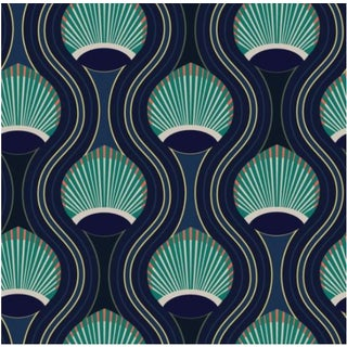 Mitchell Black Home Riviere Marine Prepasted Wallpaper For Sale