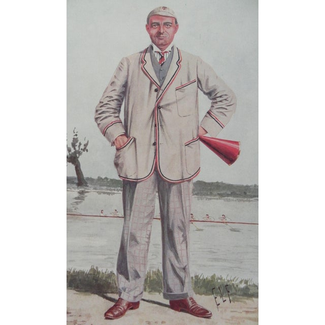 "Antique Original Vanity Fair Lithograph of - Robert Henry Forster, July 6, 1910. Caption reads: ""Bill."" Print measures..."