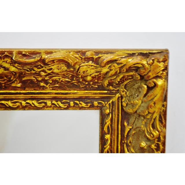 Vintage 1964 Gold Gilt Gesso Framed Wall Mirror - Image 6 of 9