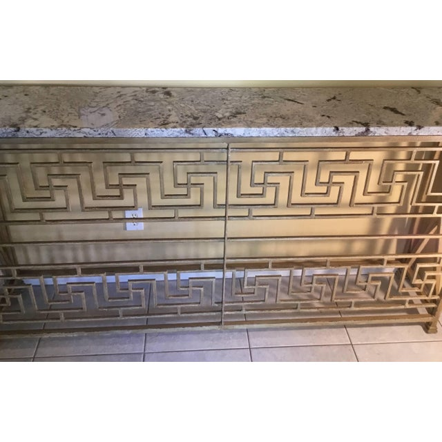 Neoclassical Neoclassical Iron Console For Sale - Image 3 of 11