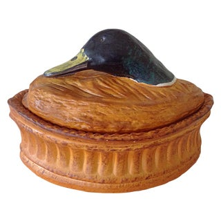 Pillivuyt French Porcelain Duck Tureen For Sale