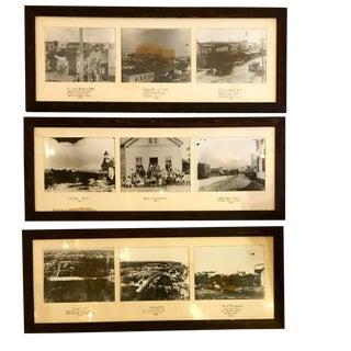 S/3 Framed 1900's Photos For Sale