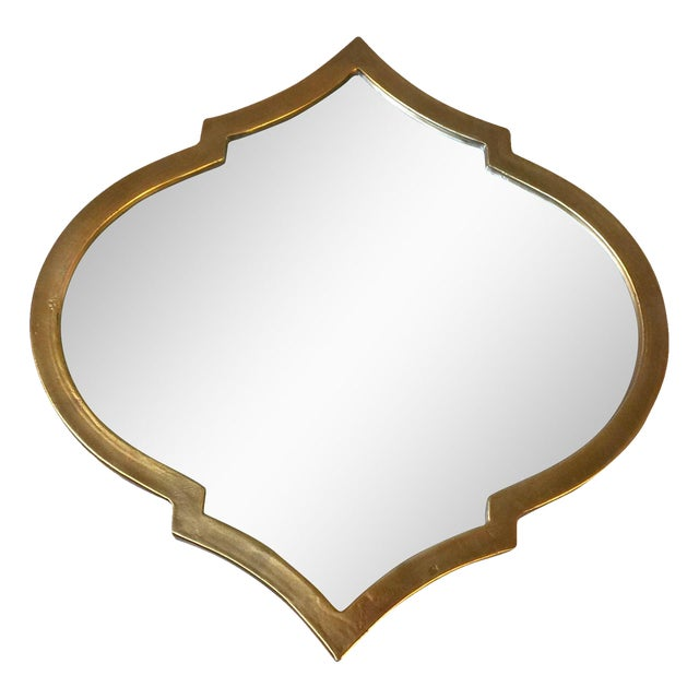 Gold Quatrefoil Metal Mirror - Image 1 of 5