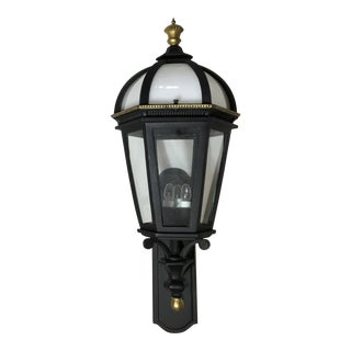 Single French Street Light Wall Mounted Lantern For Sale