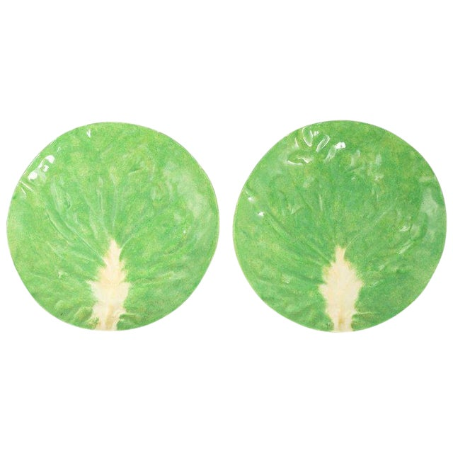 Dodie Thayer Lettuce Side Plates - a Pair For Sale