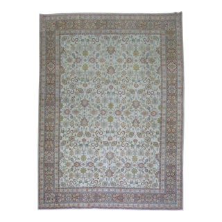 Shabby Chic Kashan Rug - 8'5'' X 11'5'' For Sale