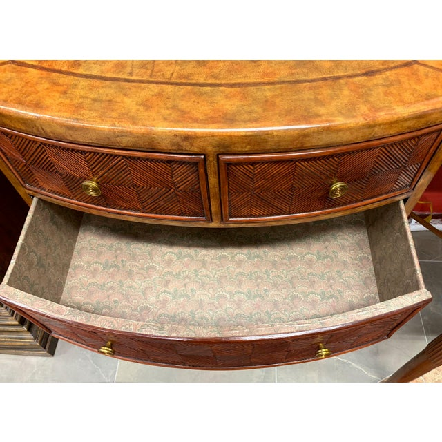 Wicker Lineage Leather and Pencil Rattan Chest For Sale - Image 7 of 11