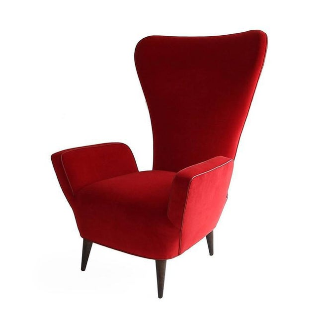 Mid-Century Modern Pair of Rare Low-Slung Modern Italian Sculptural Chairs For Sale - Image 3 of 7