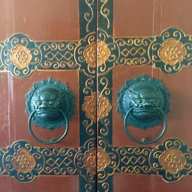 Antique Chinese Wooden Gate Doors - a Pair - Image 5 of 11