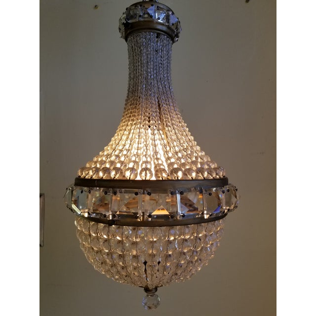 Antique French Empire Style Crystal Chandelier For Sale - Image 9 of 10