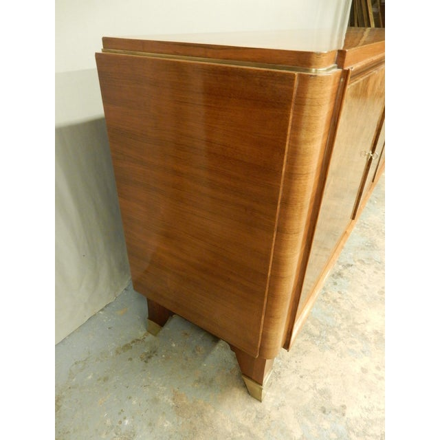 Maurice Rinck 1940's Large French Walnut Enfilade by Maurice Rinck For Sale - Image 4 of 12