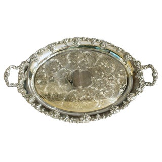 20th Century Rococo Schofield Baltimore Silver Tea Tray For Sale
