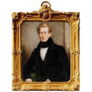 Portrait Miniature of Sir George Douglas, Baronet by j.c.d. Engleheart, 1821 For Sale