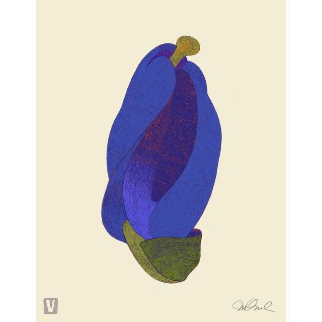 "Minimalism Blue Bud. Giclee Print 16x20"" For Sale - Image 3 of 3"
