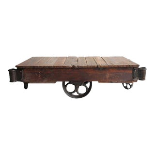 American Industrial Cart Coffee Table