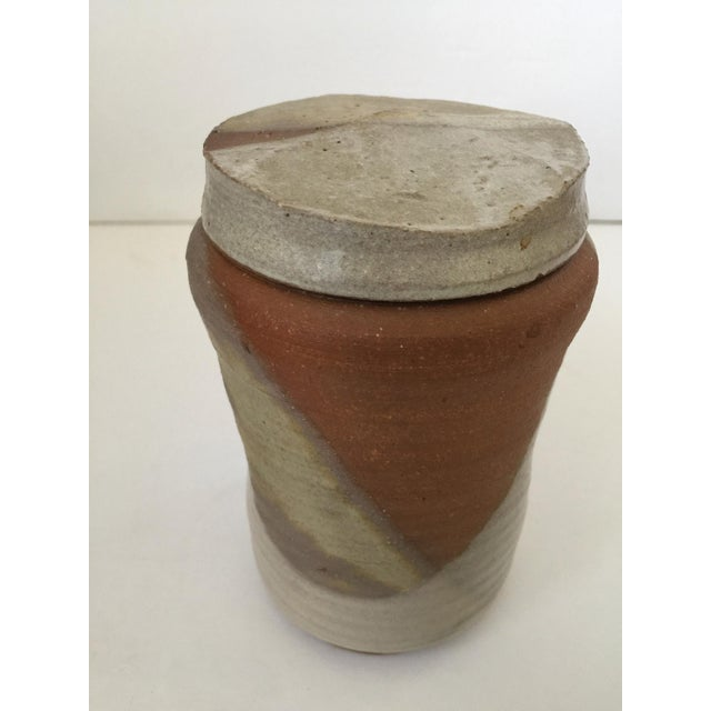 Ceramic Mid Century Modern Artisan Pottery Covered Jar For Sale - Image 7 of 10
