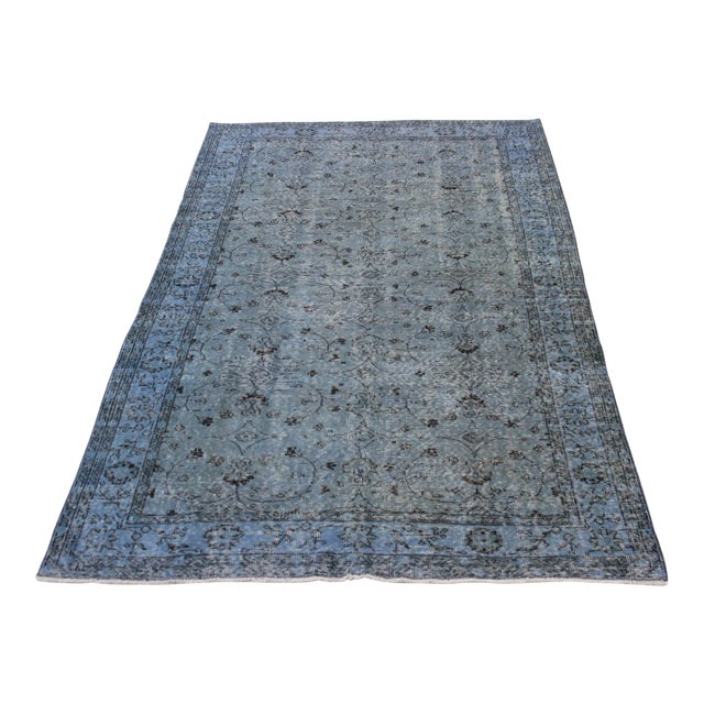 Vintage Overdyed Turki̇sh Rug - 5′8″ × 9′4″ - Image 1 of 8